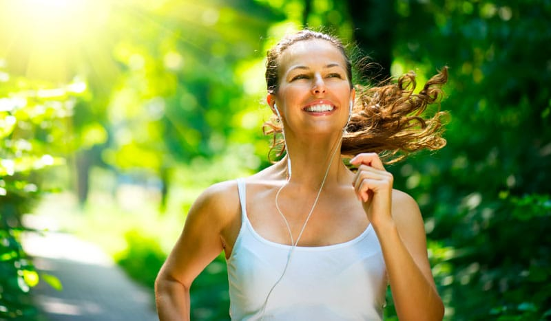 happy, energetic woman after visiting HCG Weight Loss Clinic