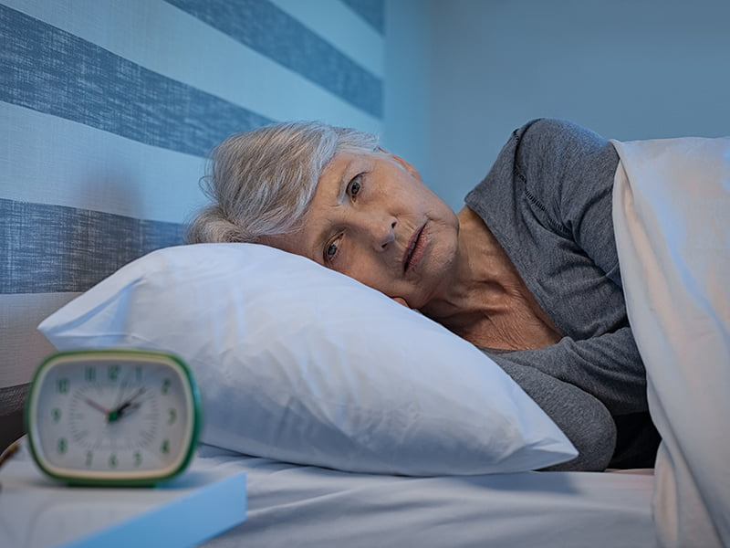 mature woman suffering from insomnia